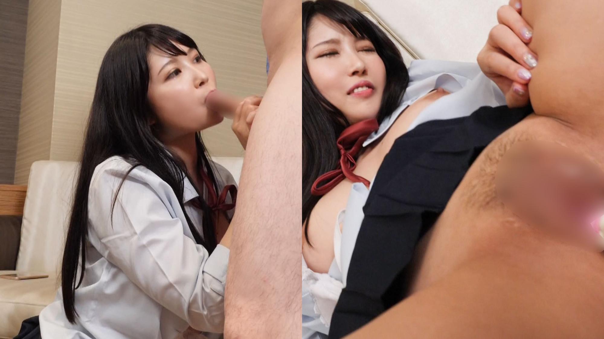 【パパ活JK・膣内射精】モデル系美少女H (私立/普通科/裏オプ有)Fカップ