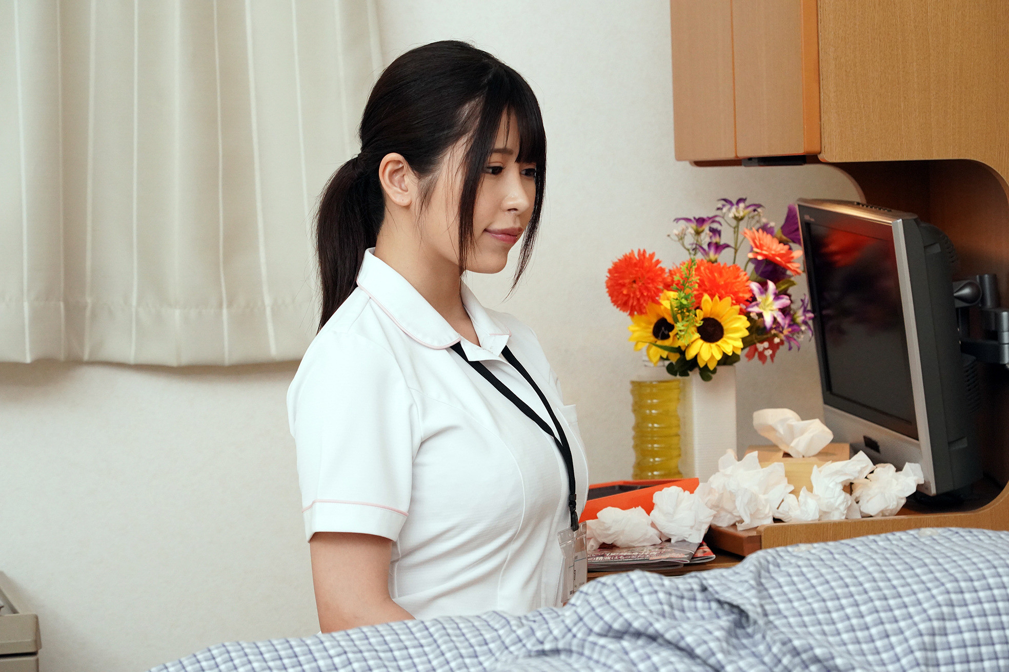 お願いされたら断れない!献身的なパイズリ狭射で性処理してくれるIカップ看護師 有岡さん 画像2