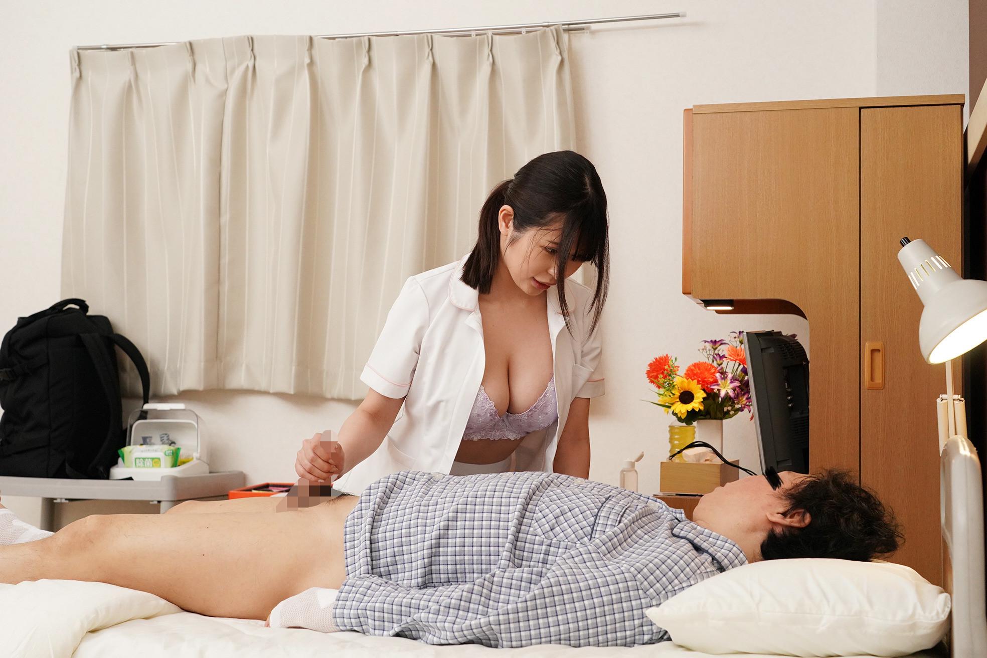お願いされたら断れない!献身的なパイズリ狭射で性処理してくれるIカップ看護師 有岡さん 画像4
