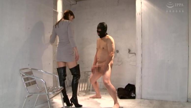 着たままの痴女様と全裸プレイ 完全着衣痴女と全裸M男のCFNM 葵百合香 画像5