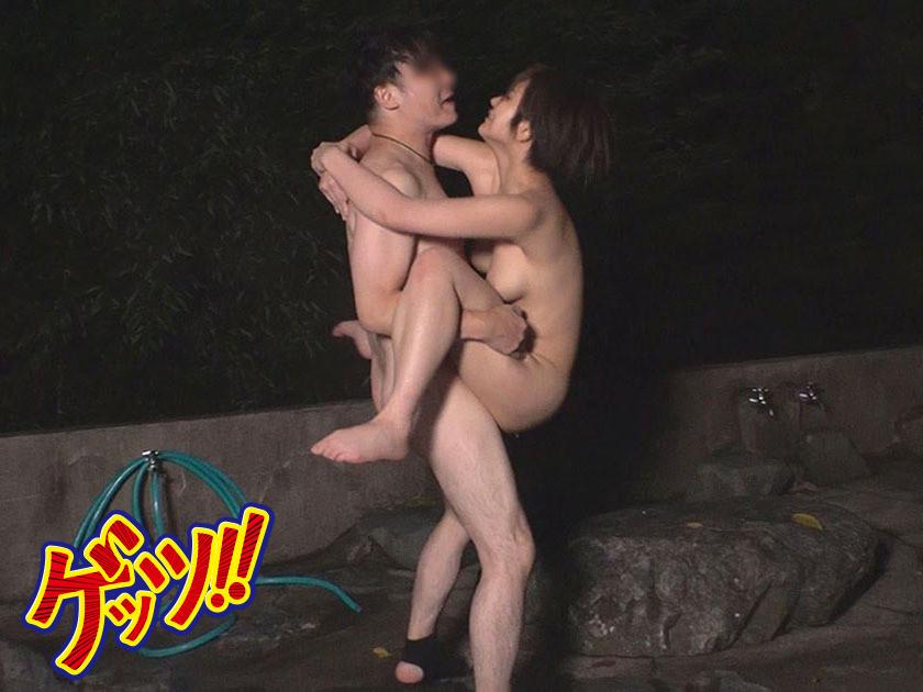 デカパイ山ガールを騙しナンパ!!混浴露天に連れ込んで水中3P乱交でパコりまくり!