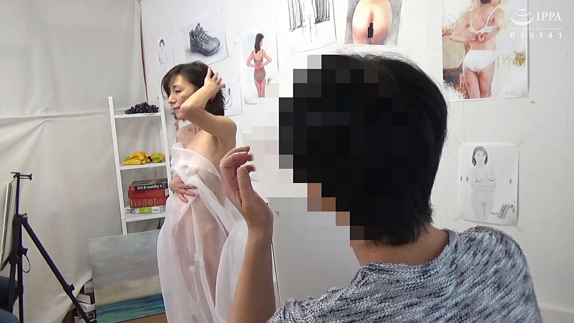 ヌードデッサンモデルの高額アルバイトでやってきた人妻さんに男根挿入して種付けSEXするビデオ 23