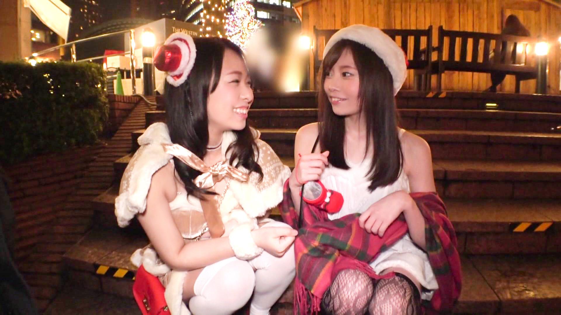 性夜の街で美少女サンタたちをナンパ即マン!精子まみれでホワイトクリスマス☆ 画像18