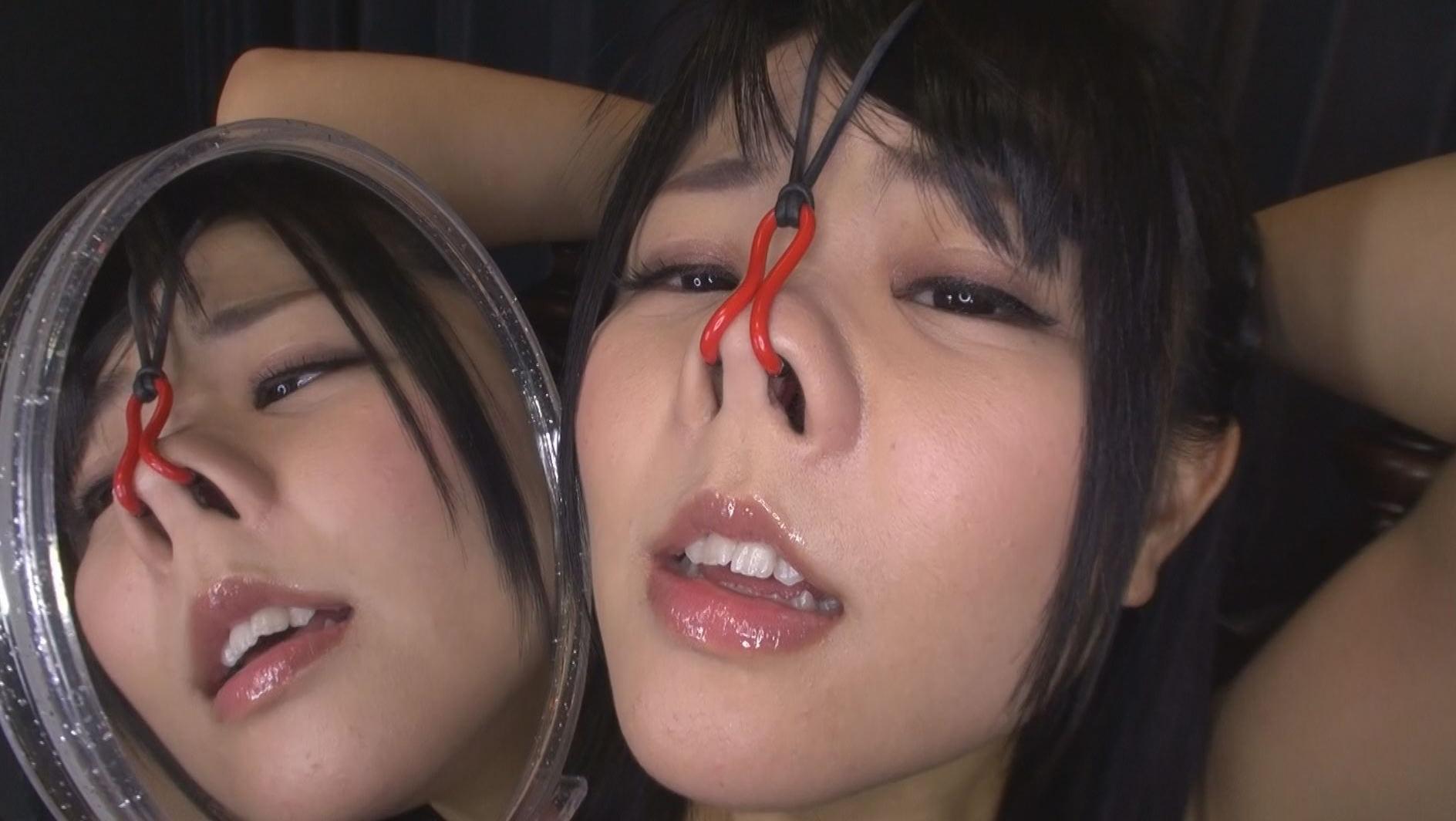 美顔羞恥 豚鼻フェラ 画像12