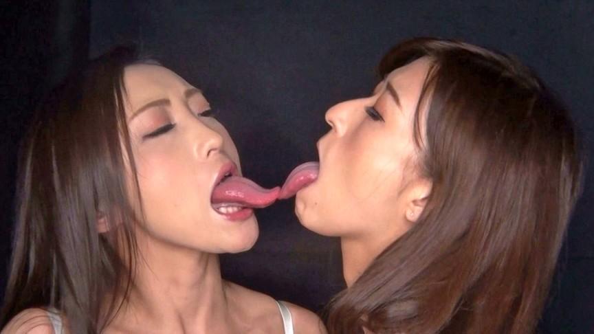 W神舌!!ベロ長レズビアン 神波多一花×神納花 画像4