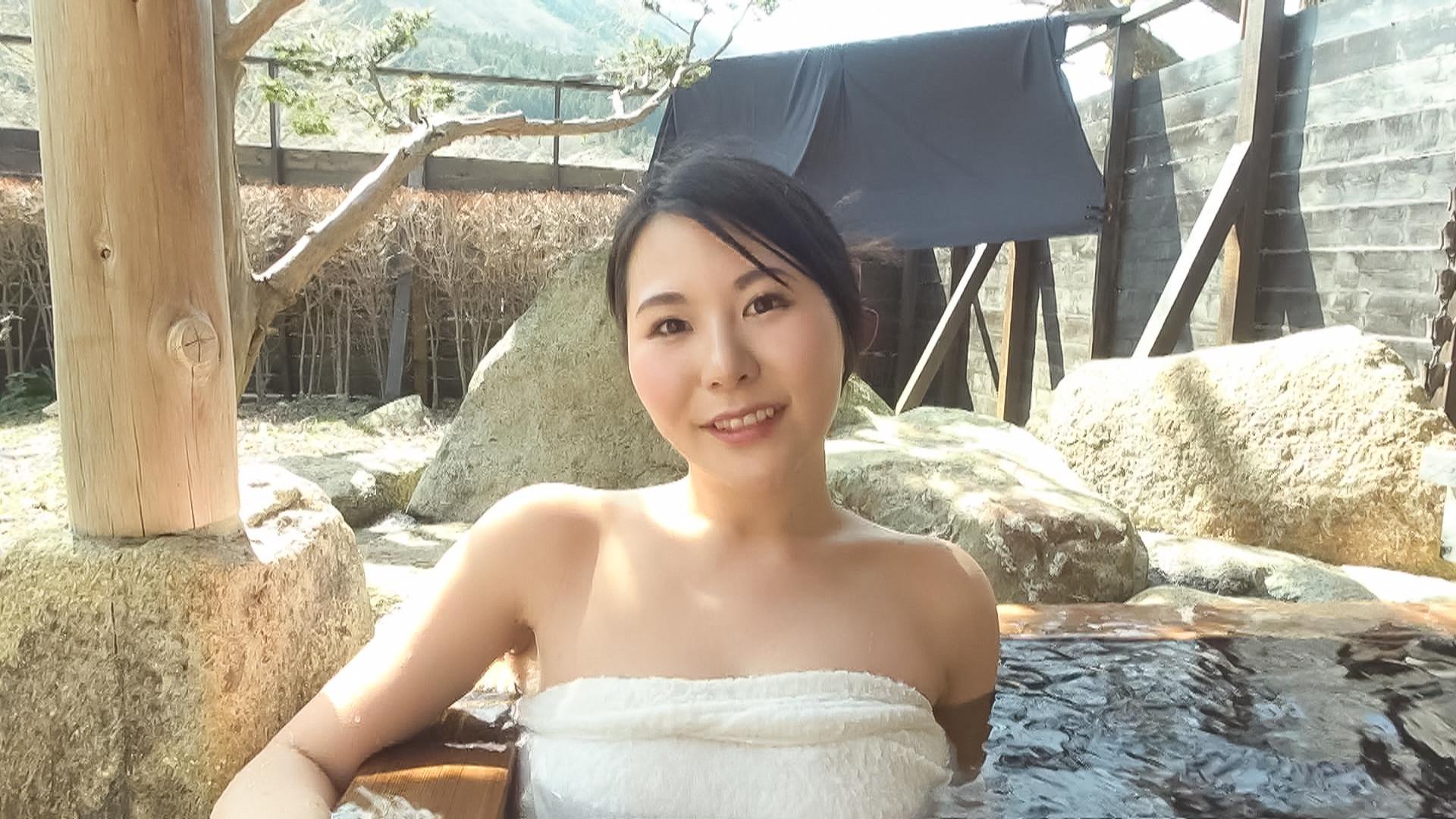 中出し露天温泉 国宝級マシュマロおっぱいIカップむっつりスケベなエロエロお姉さん 画像2