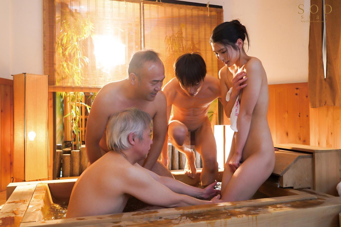 混浴社員旅行NTR 温泉好きな会社の先輩たちと、貸切家族風呂に行ったら僕の妻が滅茶苦茶に犯されてしまいました・・・。 本庄鈴 画像3