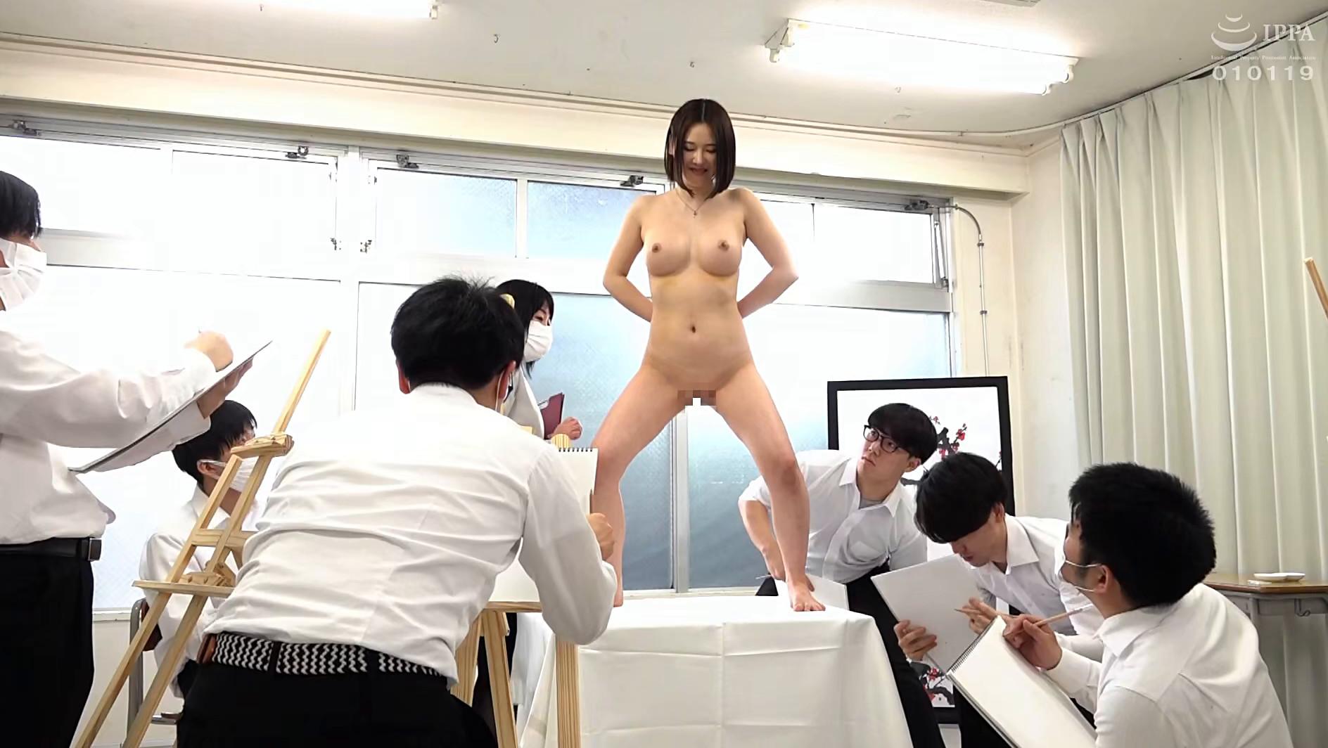 羞恥!春画のデッサンモデルにされる新任女教師! 皆川るい 画像4