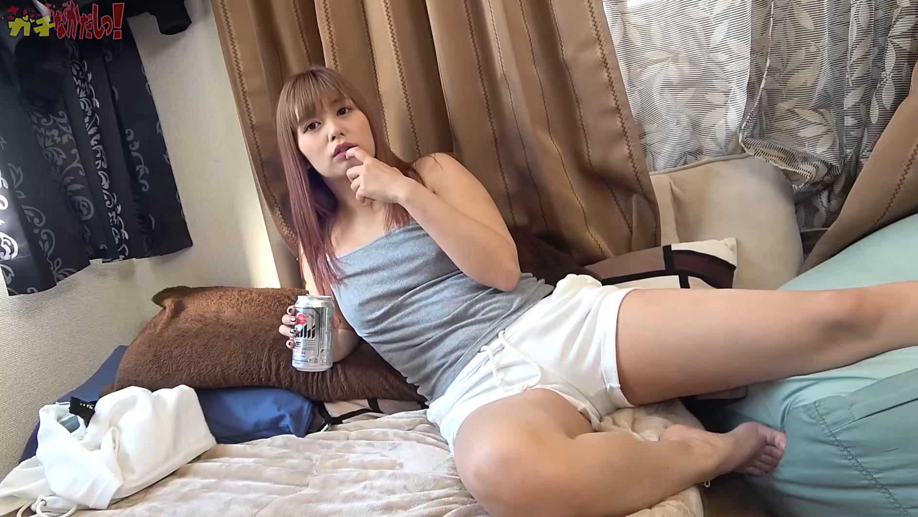 【泥酔女子!】昼から酒飲むクロスバイクギャルはビールもち〇こも生が好き!自粛期間に溜まった性欲をぶつけてくる肉食女子と生ハメ中出し!