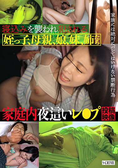 寝込みを襲われ犯される 姪っ子、母親、娘、妹、姉たち 家庭内夜這いレ●プ投稿映像