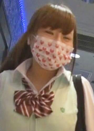 ガチ素人マスク隠しエロ行為HカップのJK