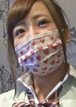 ガチ素人マスク隠しエロ行為HカップのJK 2