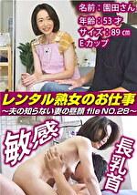 レンタル熟女のお仕事~夫の知らない妻の裏の顔 file NO.28~