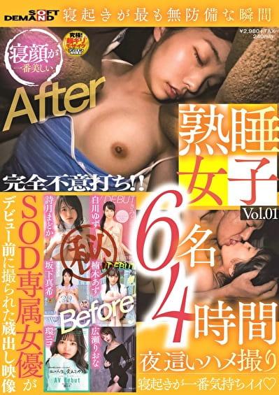 熟睡女子 6名4時間夜這いハメ撮り Vol.01
